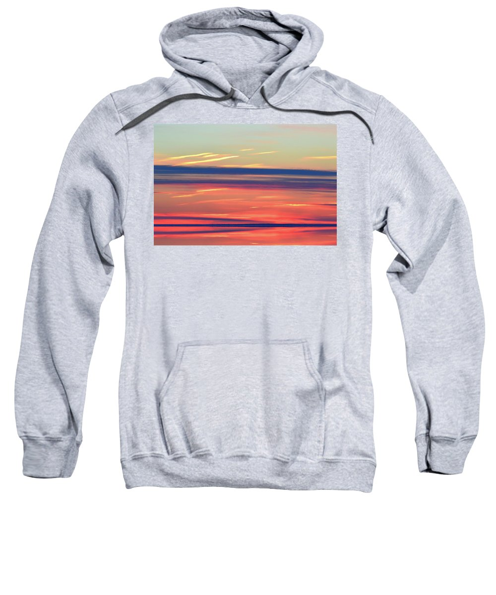 Abstract Sweatshirt featuring the digital art Bands Of Colour Three by Lyle Crump
