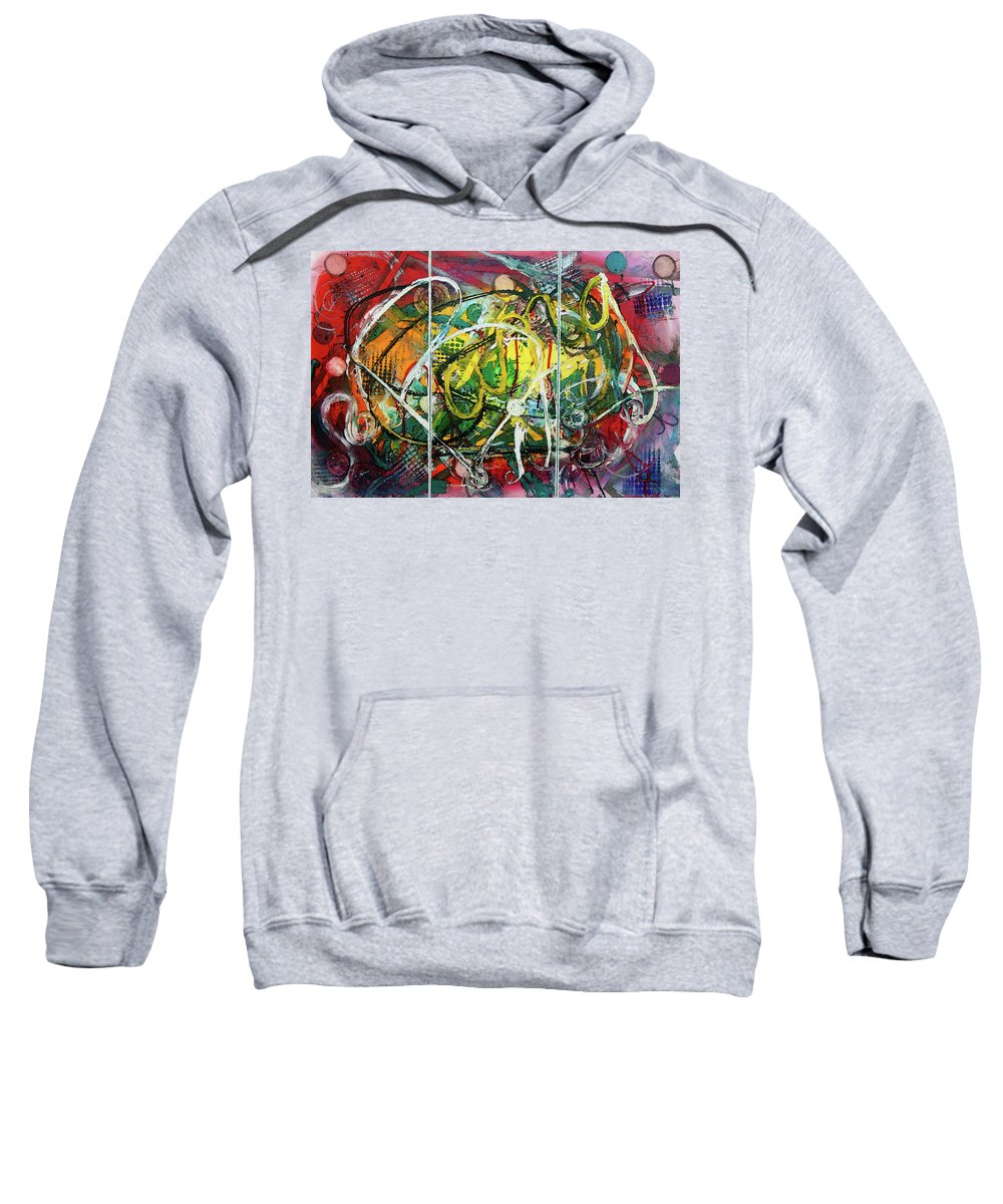 Bang Sweatshirt featuring the painting Bang It Out by Lisa Kaiser