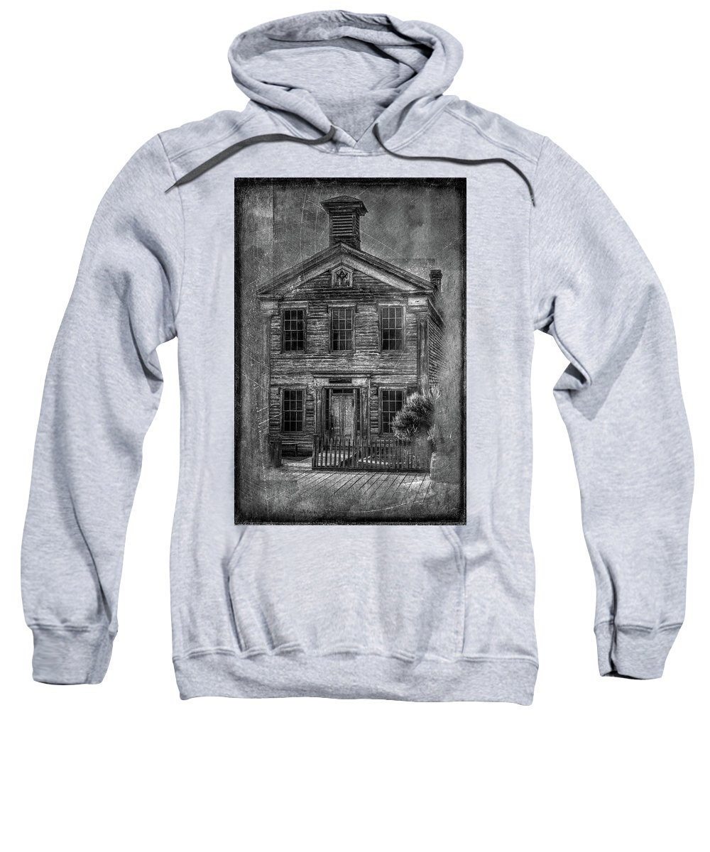 Bannack Sweatshirt featuring the photograph Bannack School by Paul Freidlund