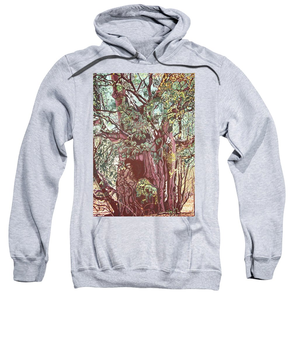 Valentine Magutsa Sweatshirt featuring the painting Baoba In Foliage by Valentine Magutsa