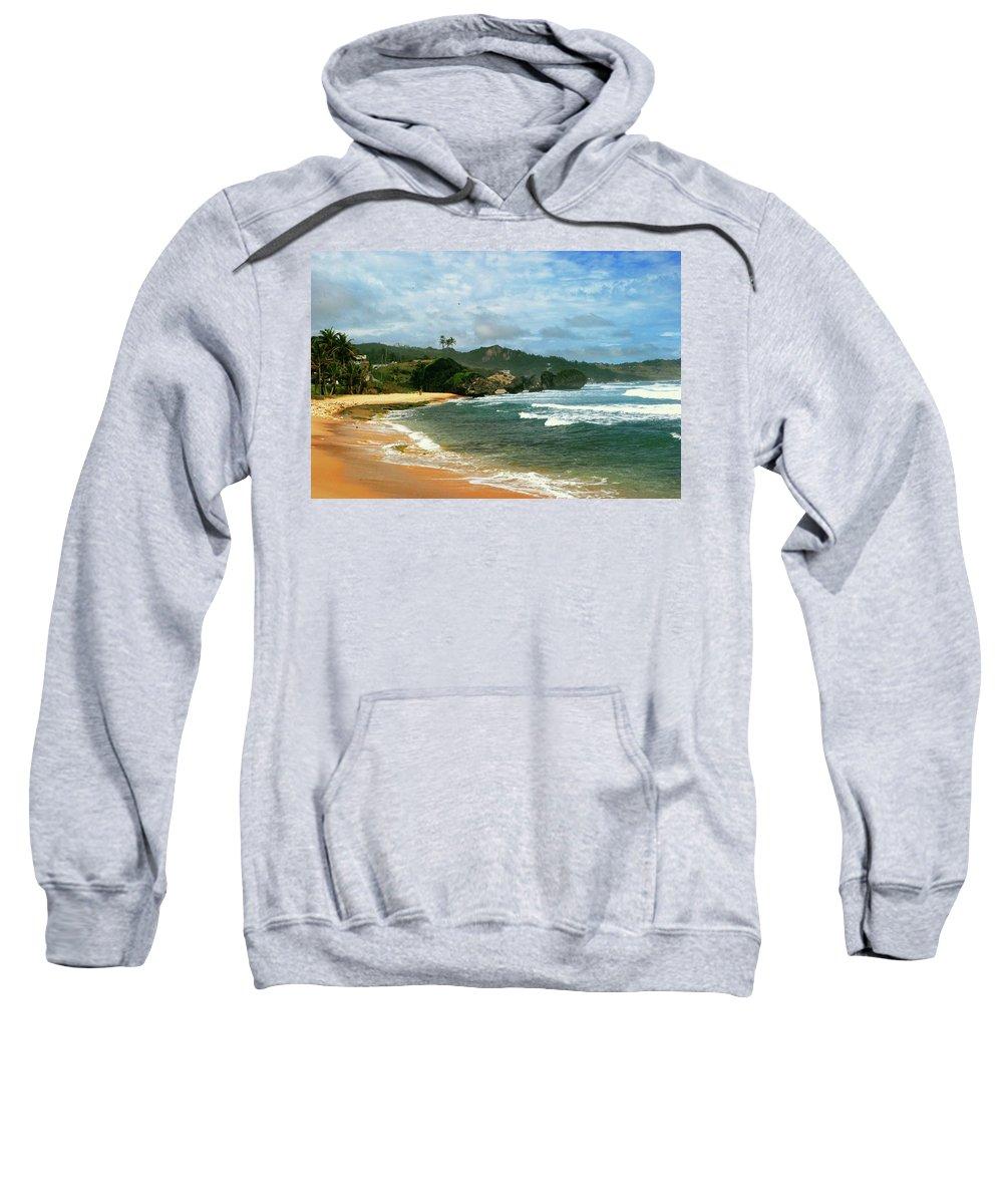 Beach Sweatshirt featuring the photograph Barbados Beach by Gary Wonning