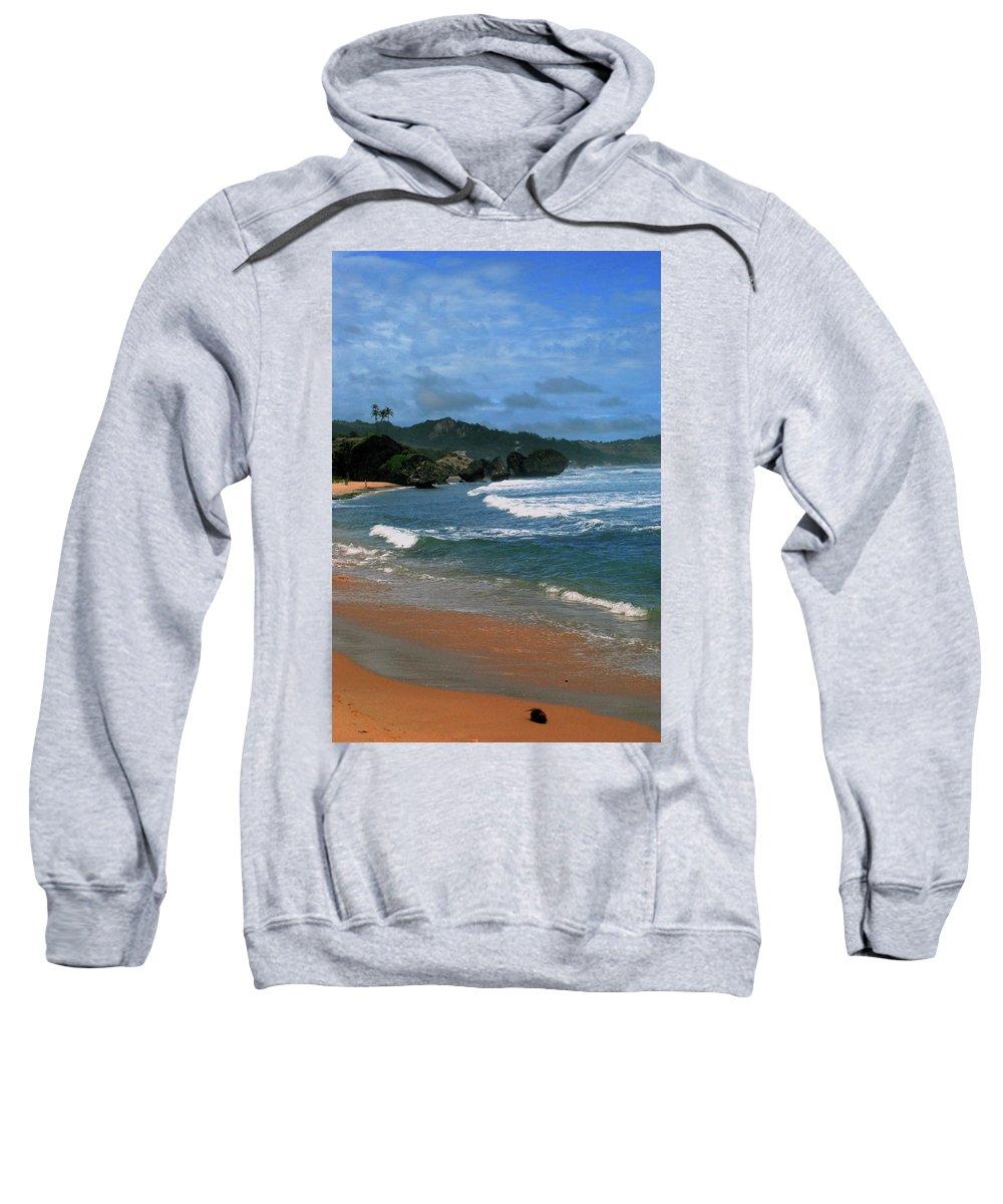 Beach Sweatshirt featuring the photograph Barbados Berach by Gary Wonning