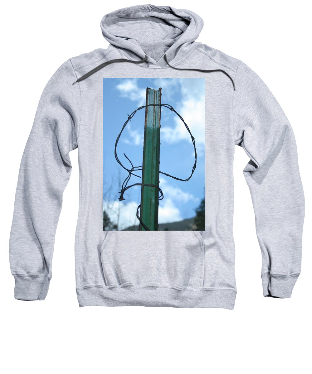 Barbed Wire Sweatshirt featuring the photograph Barbed Wire Sky by Ric Bascobert