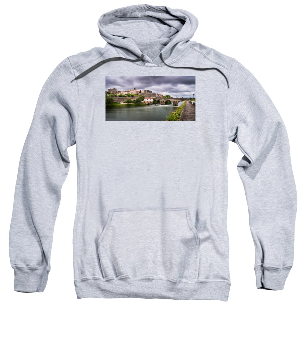 Cityscape Sweatshirt featuring the photograph Barcelos by Ricardo Guimaraes