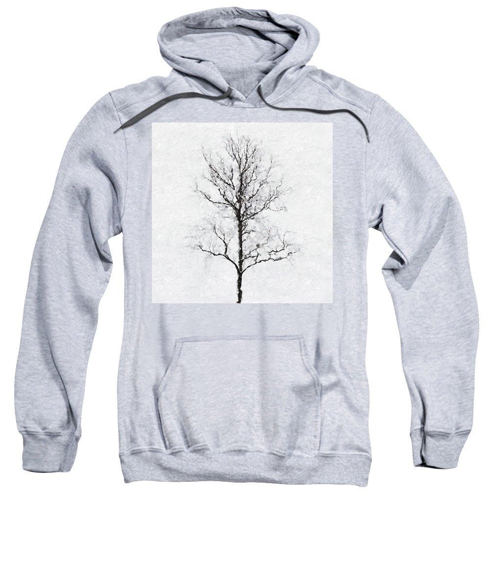 Bare Sweatshirt featuring the photograph Bare Tree by Pekka Liukkonen
