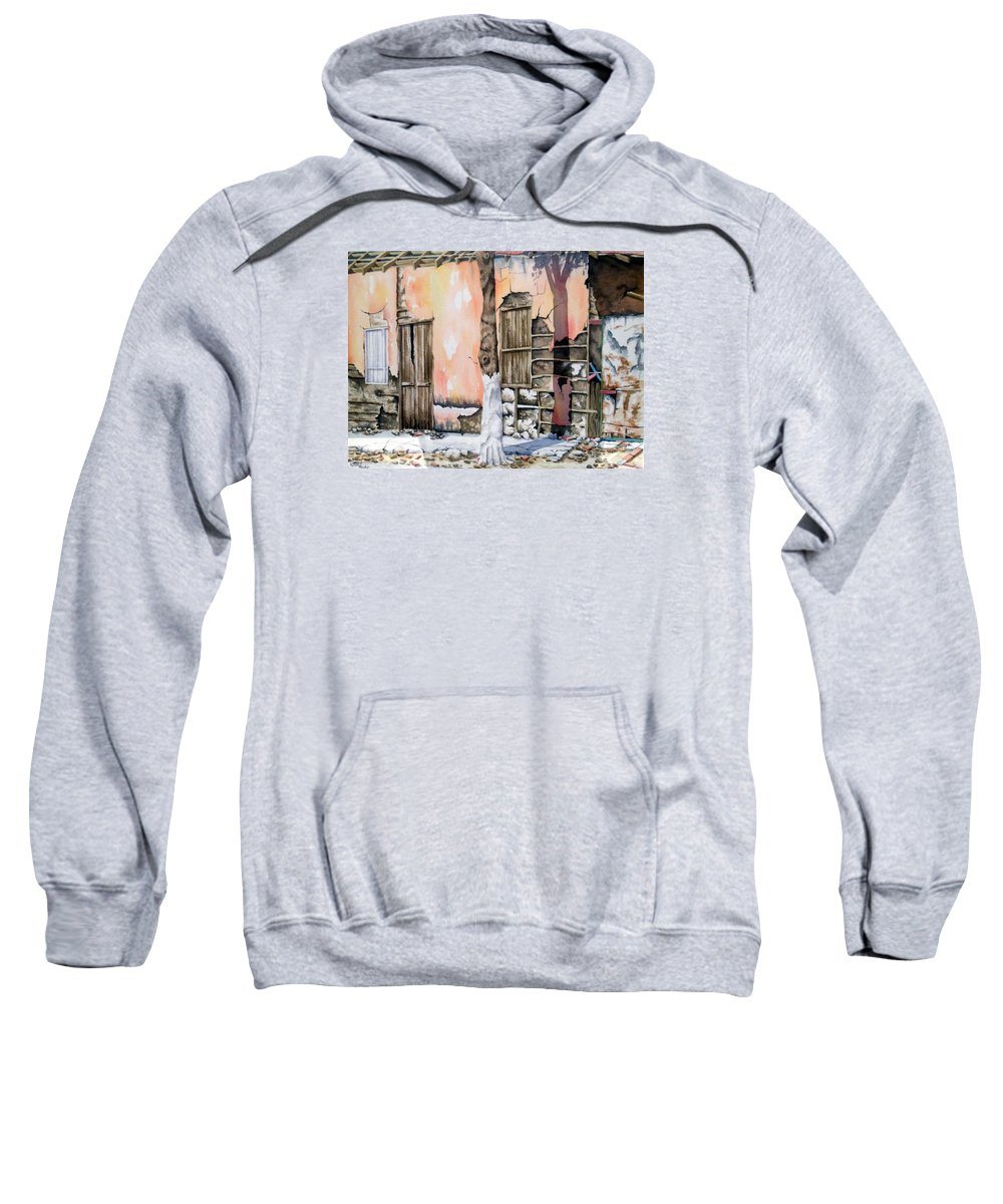 Lanscape Sweatshirt featuring the painting Bareque II by Tatiana Escobar