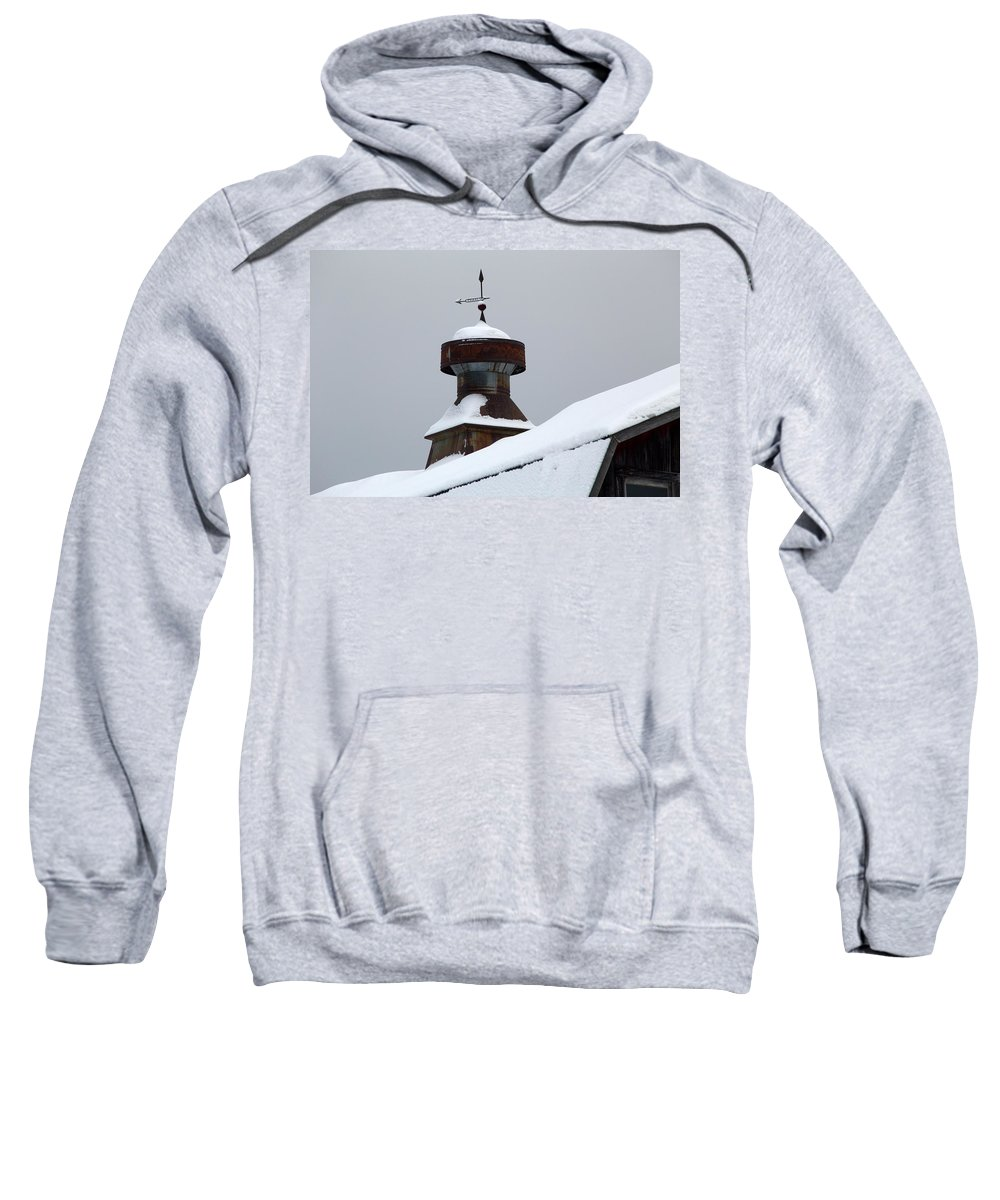Barn Sweatshirt featuring the photograph Barn Cupola by Frank Guemmer