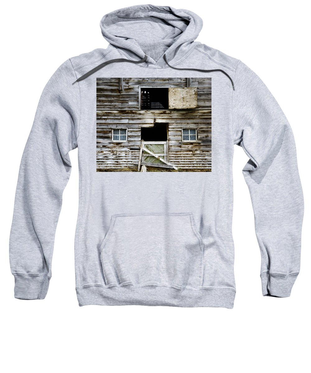 Barn Sweatshirt featuring the photograph Barn Side by Wayne Sherriff