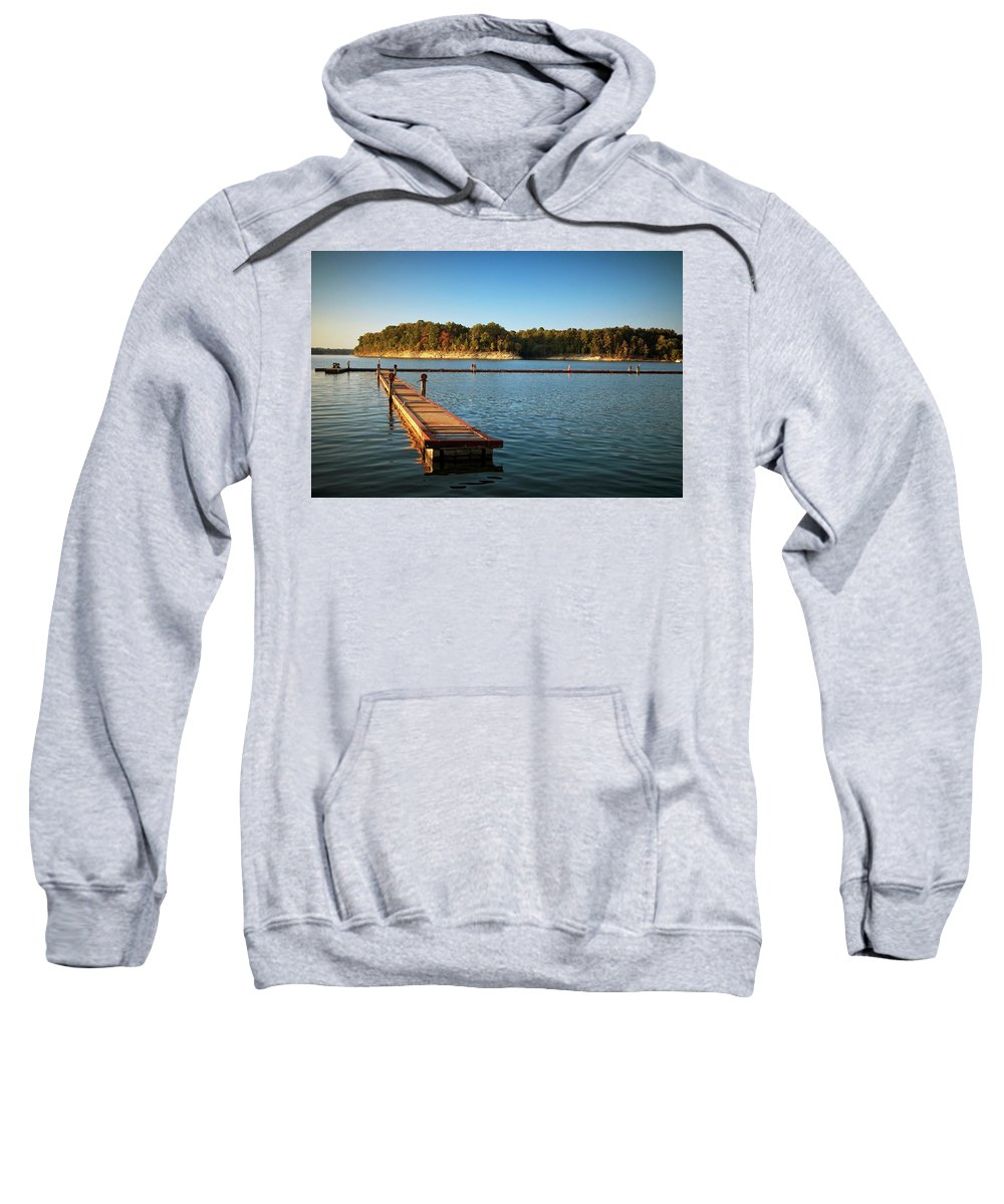 Barren Sweatshirt featuring the photograph Barren River Lake Dock by Amber Flowers