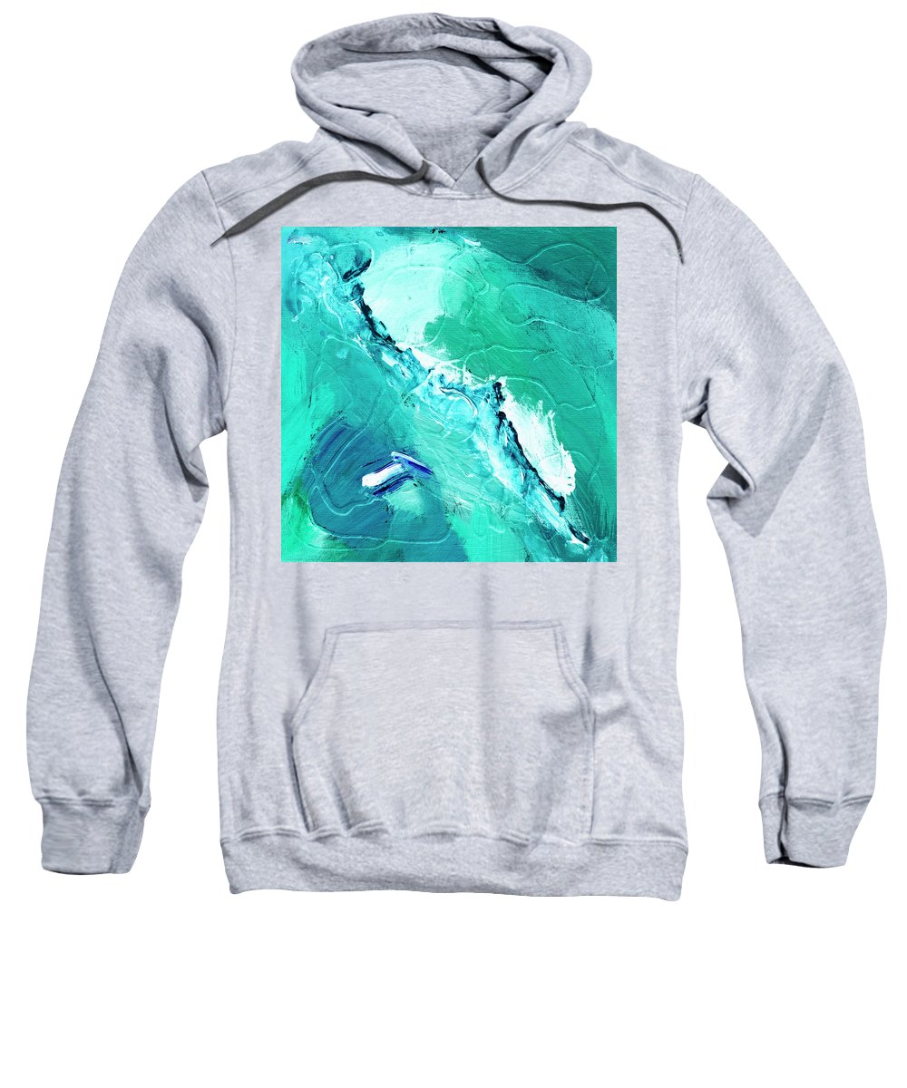 Abstract Sweatshirt featuring the painting Barrier Reef by Dominic Piperata