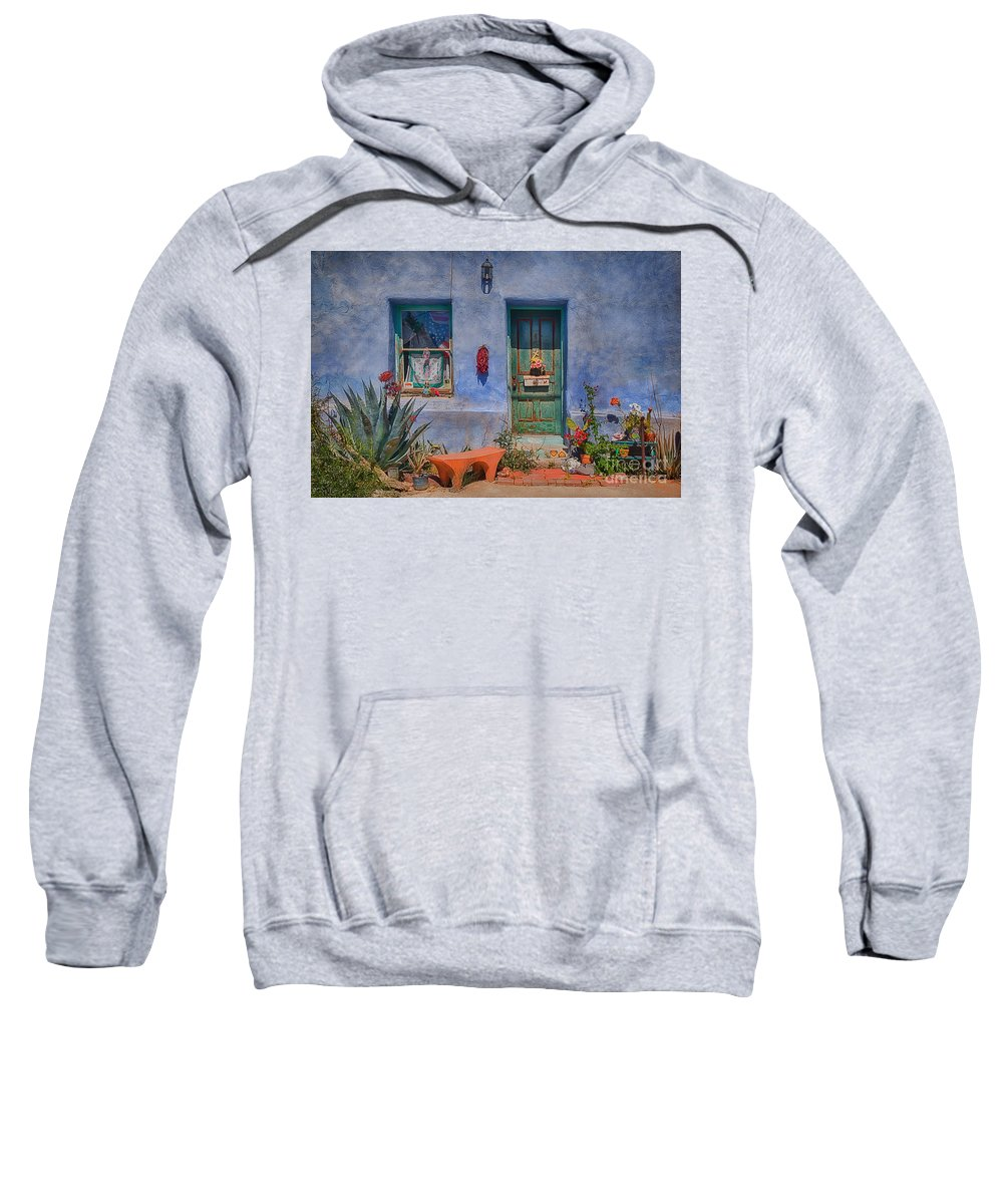Barrio Viejo Sweatshirt featuring the photograph Barrio Viejo With Character by Priscilla Burgers