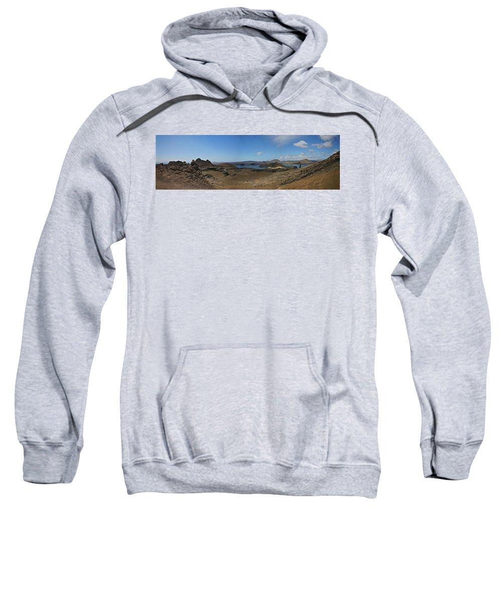 Bartolome Island Panorama Sweatshirt featuring the photograph Bartolome Island Panorama by John Haldane