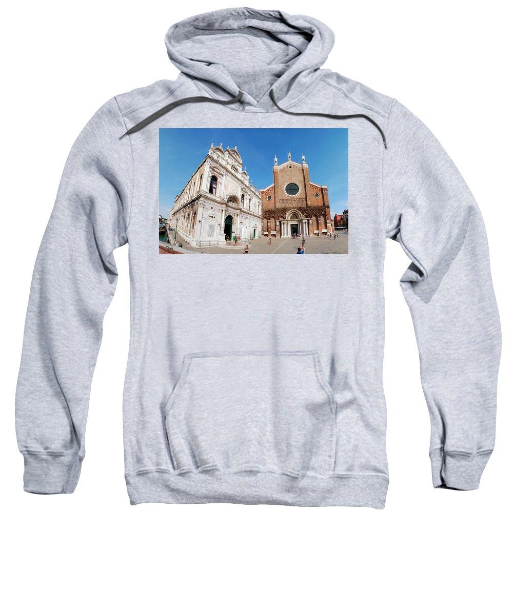 Church Sweatshirt featuring the photograph Basilica Dei Santo Giovanni E Paolo by kris Woo