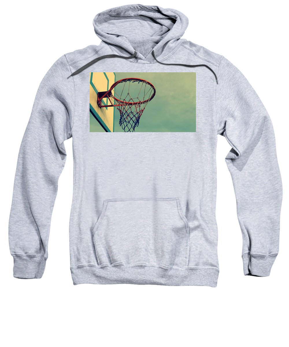 Basketball Sweatshirt featuring the digital art Basketball by Bert Mailer