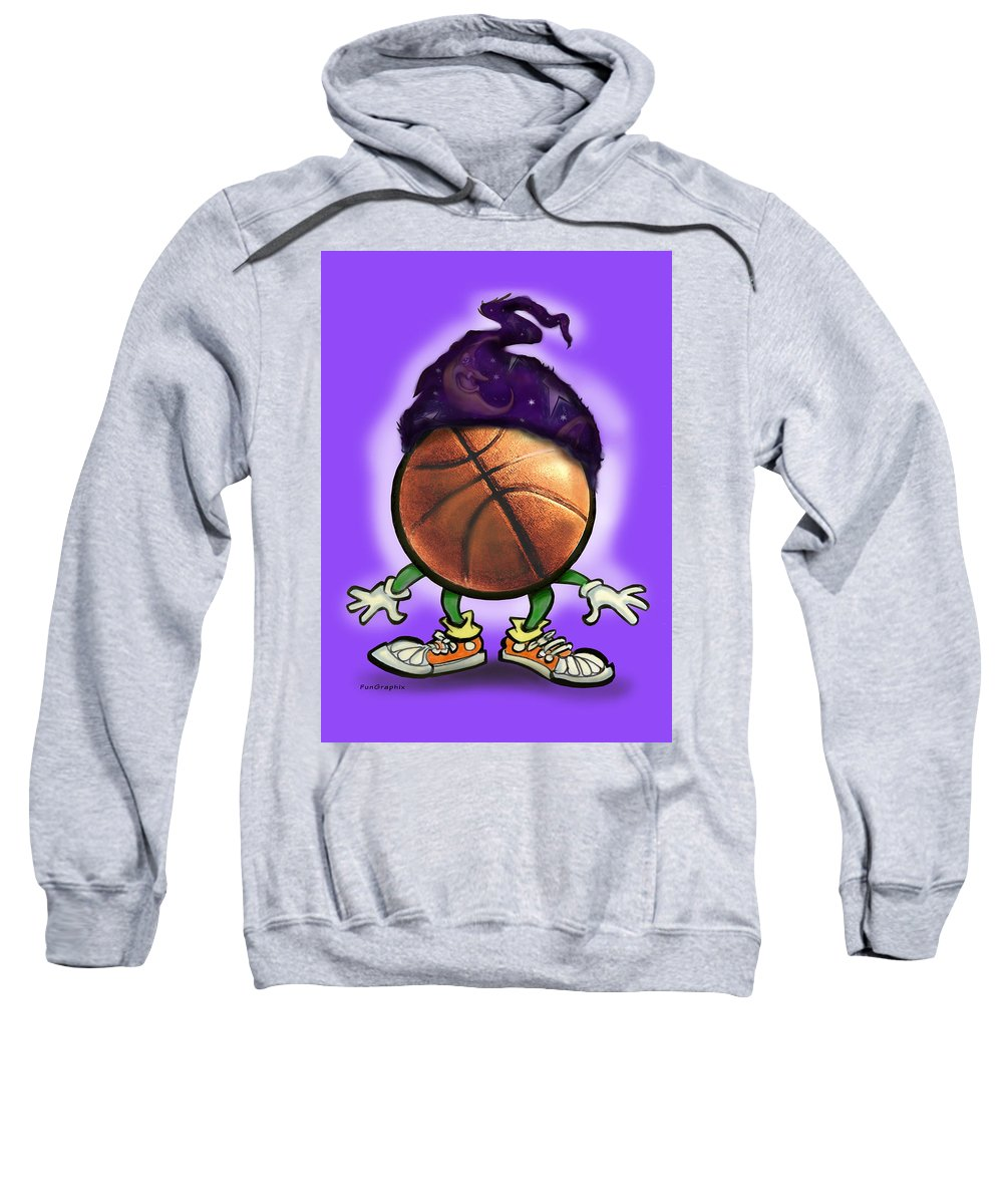 Basketball Sweatshirt featuring the greeting card Basketball Wizard by Kevin Middleton