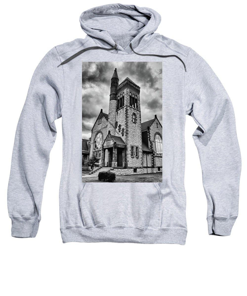 Batavia Ny Sweatshirt featuring the photograph Batavia Baptist 2161 by Guy Whiteley