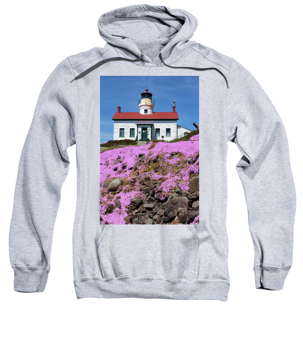 Iceplant Sweatshirt featuring the photograph Battery Point Lighthouse In Crescent City by Rick Pisio
