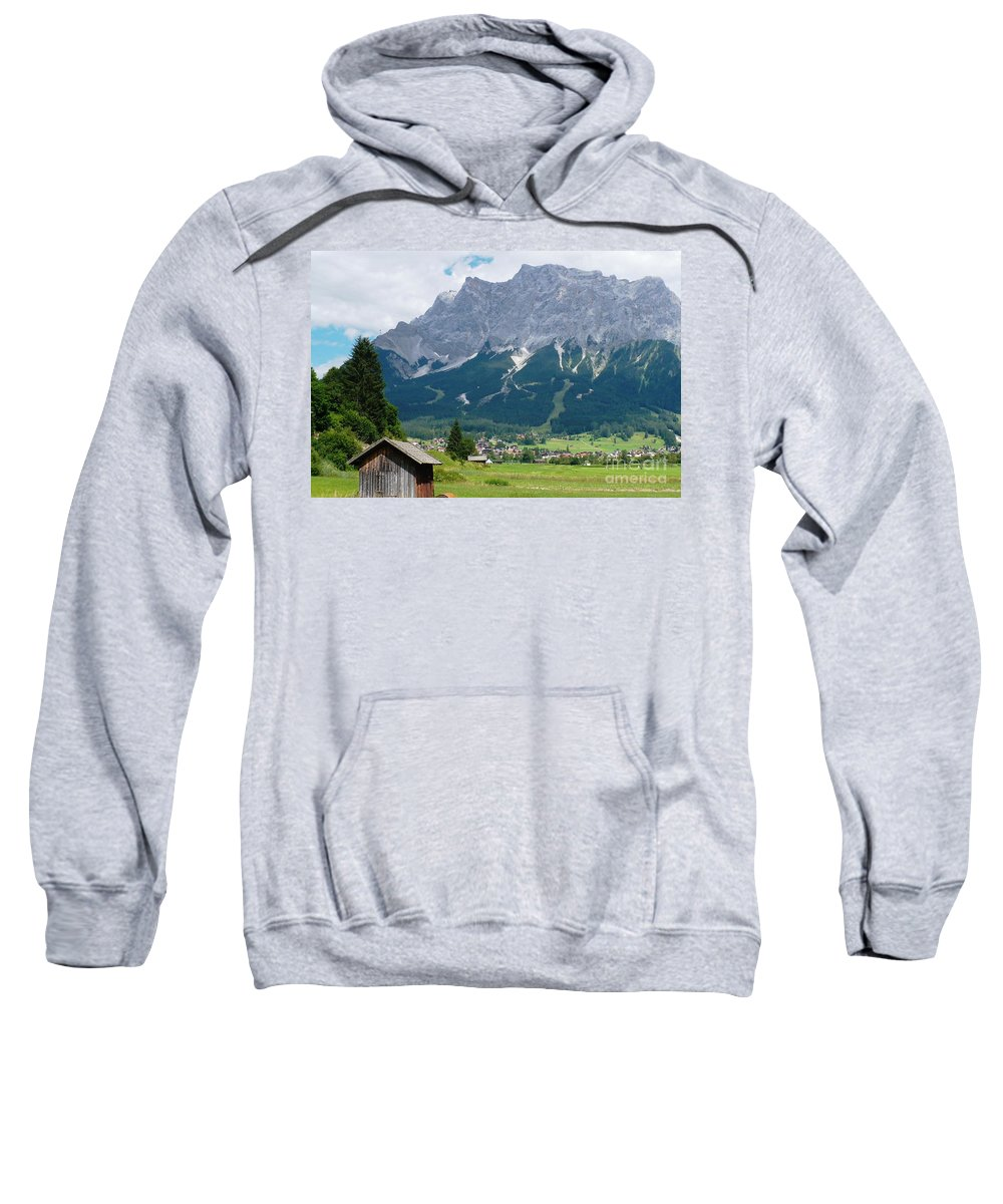 Landscape Sweatshirt featuring the photograph Bavarian Alps Landscape by Carol Groenen