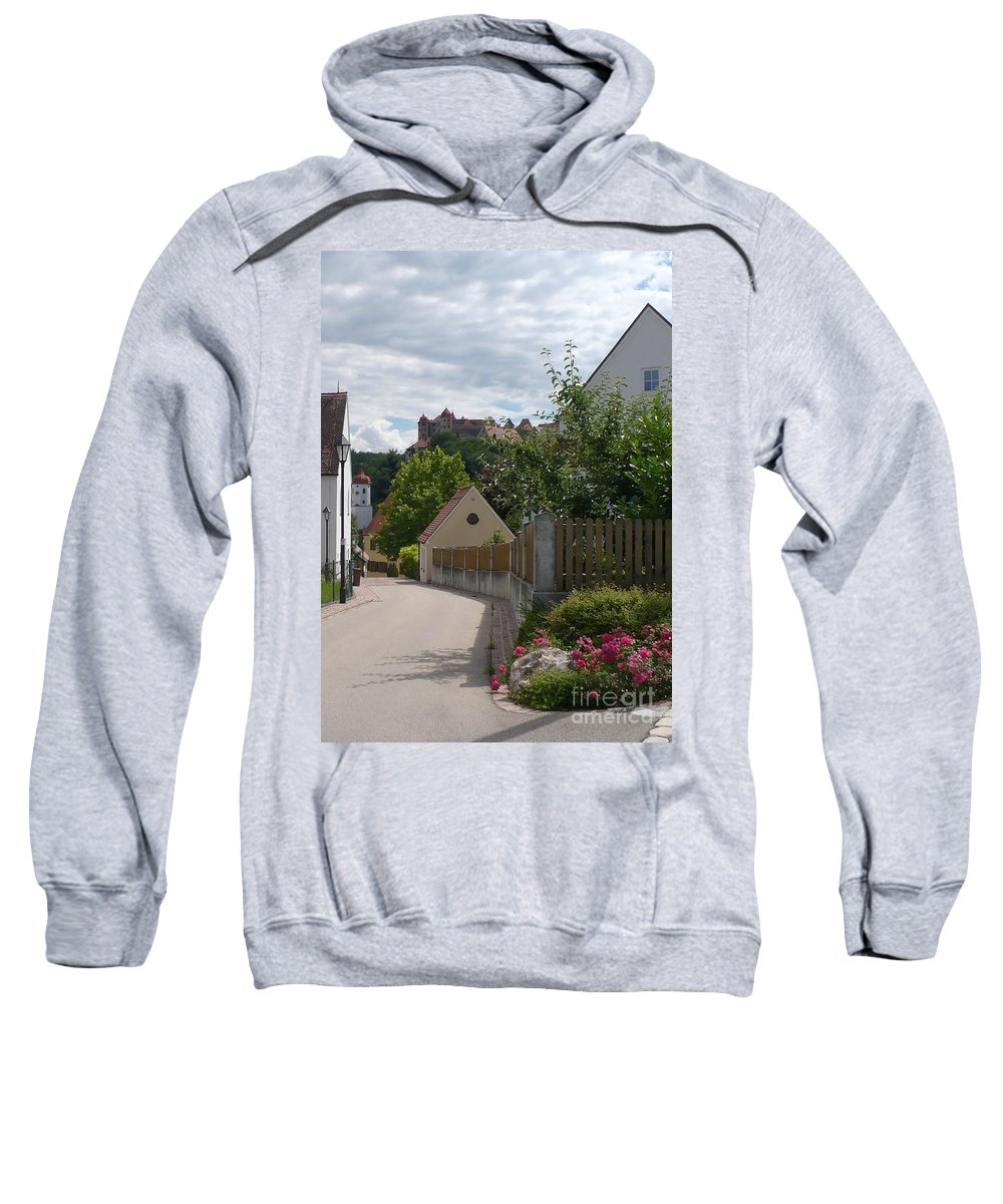 Castle Sweatshirt featuring the photograph Bavarian Village With Castle View by Carol Groenen