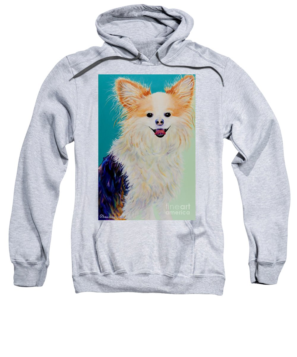 Animal Sweatshirt featuring the painting Baxter by Pat Saunders-White