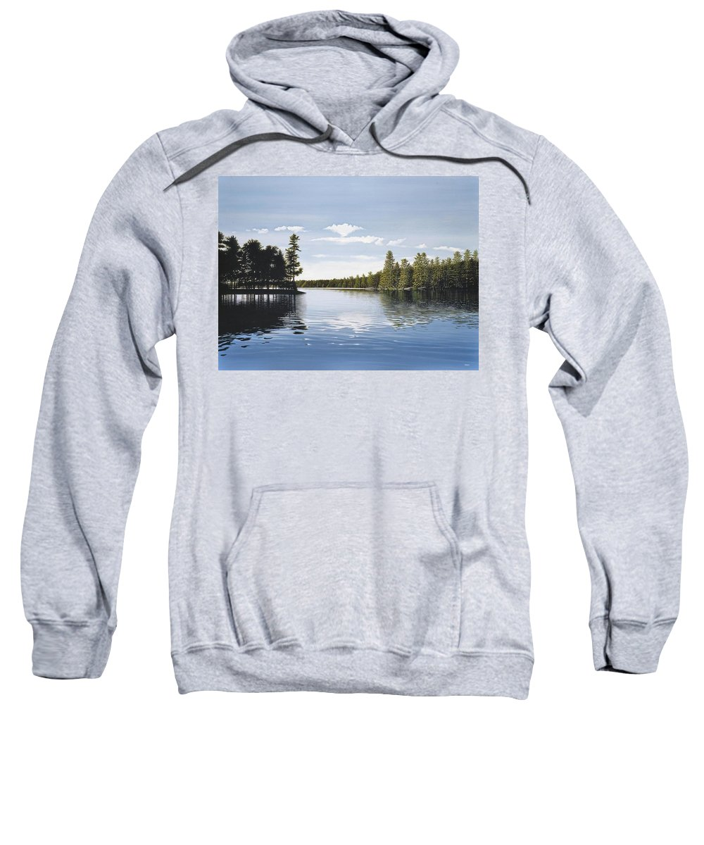 Landscapes Sweatshirt featuring the painting Bay On Lake Muskoka by Kenneth M Kirsch