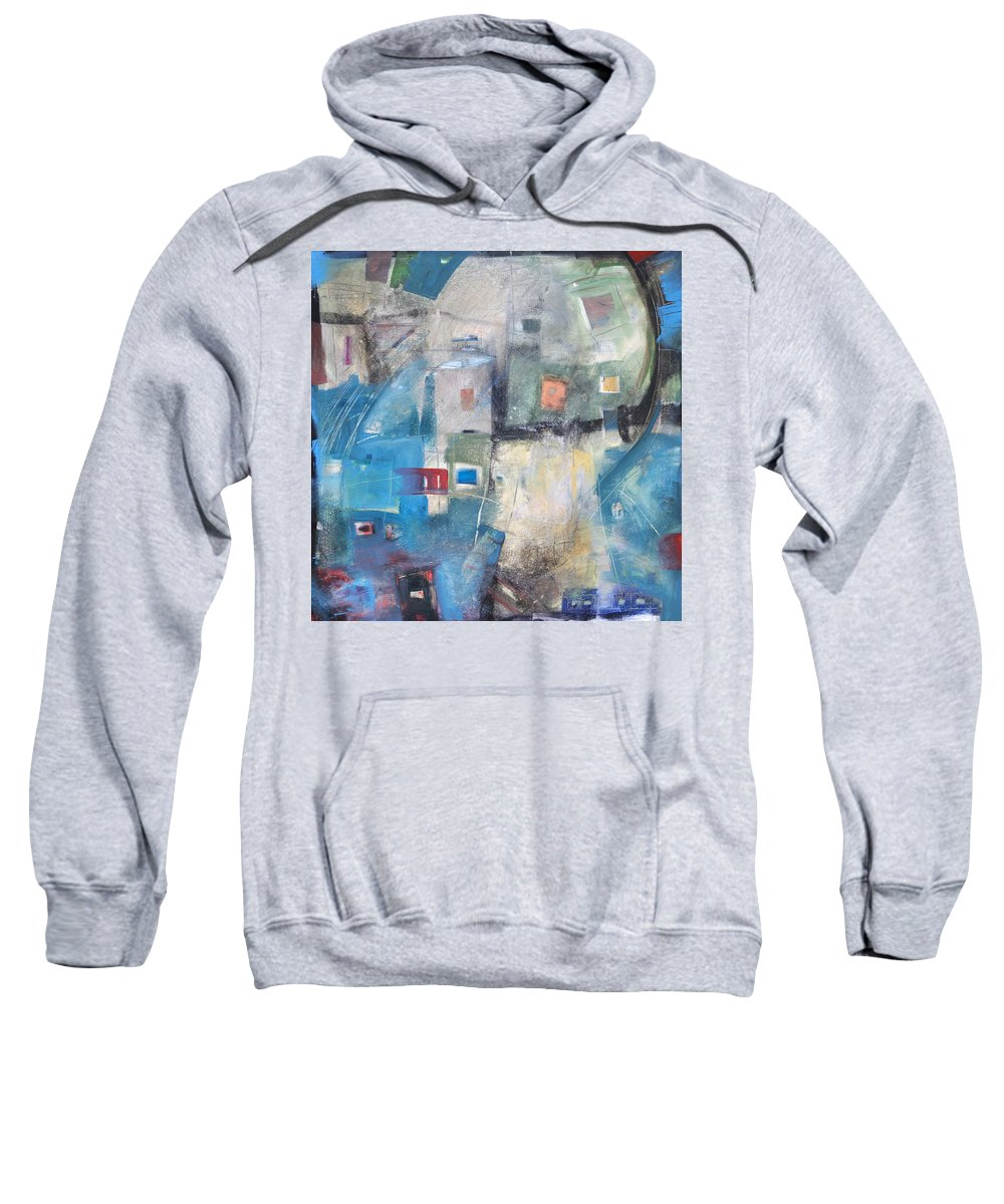 Abstract Sweatshirt featuring the painting Bayer Works Wonders by Tim Nyberg
