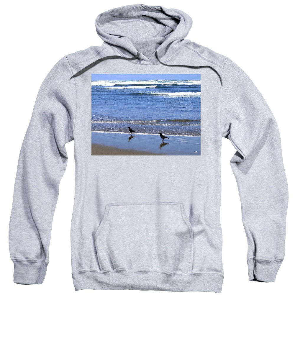 Crows Sweatshirt featuring the photograph Beach Buddies by Will Borden