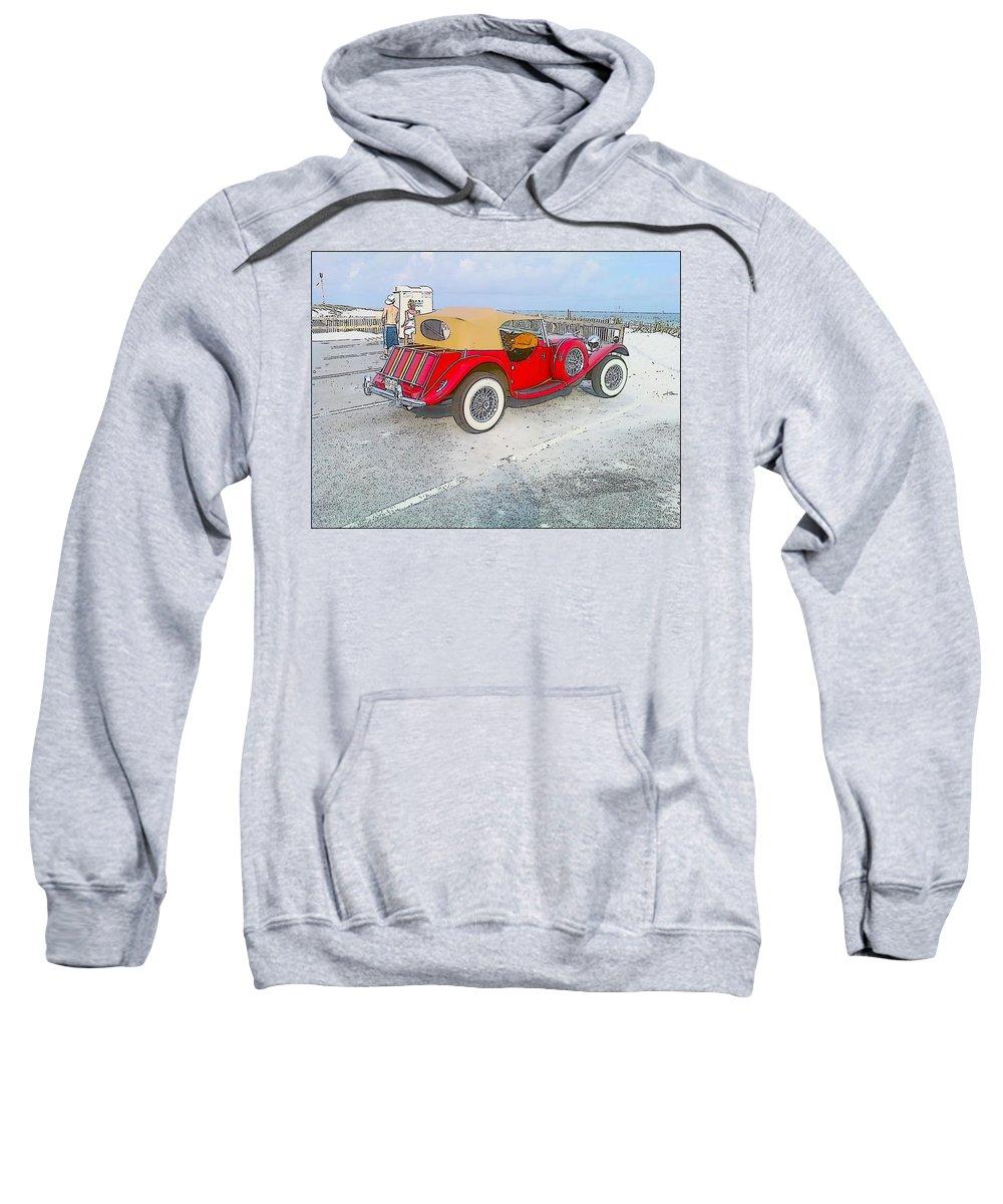 Beach Sweatshirt featuring the photograph Beach Car by Michelle Powell