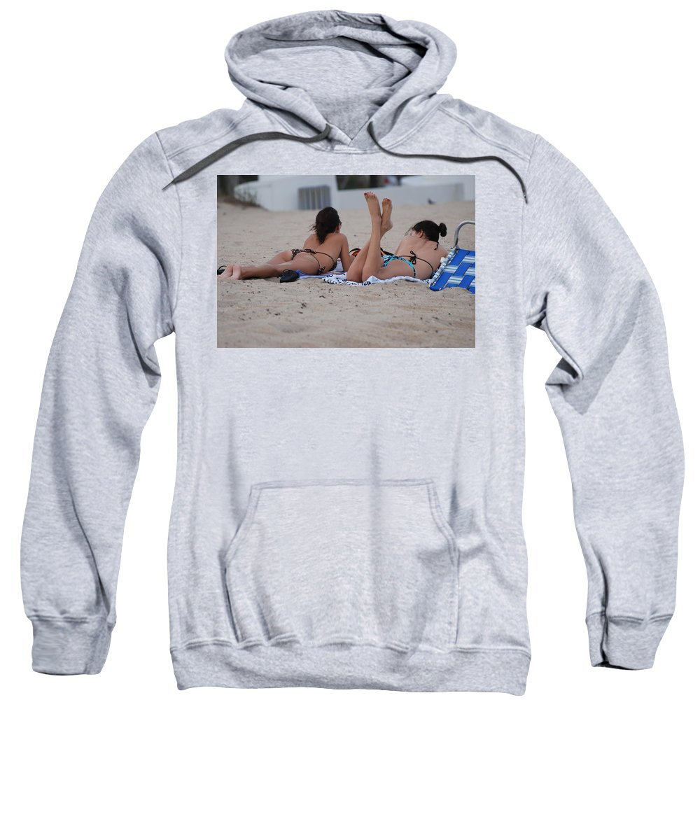 Girls Sweatshirt featuring the photograph Beach Combers by Rob Hans
