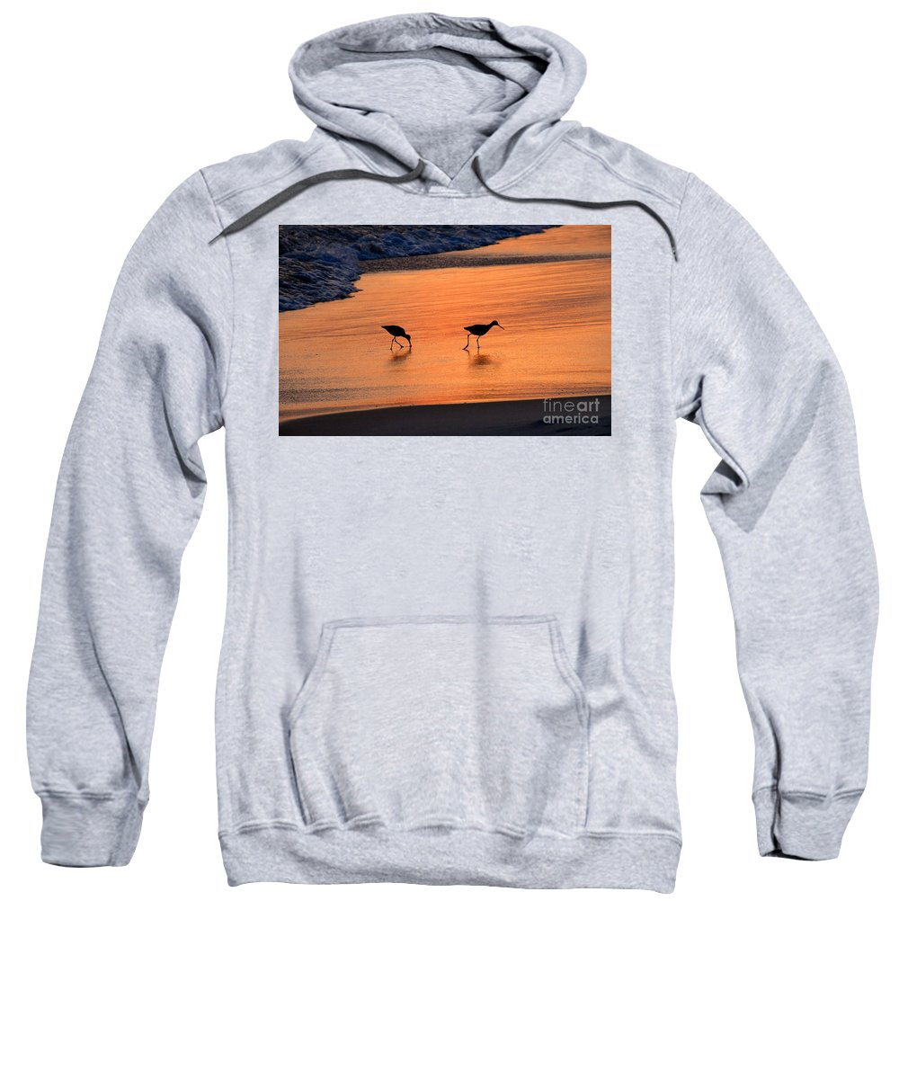 Beach Sweatshirt featuring the photograph Beach Couple by David Lee Thompson