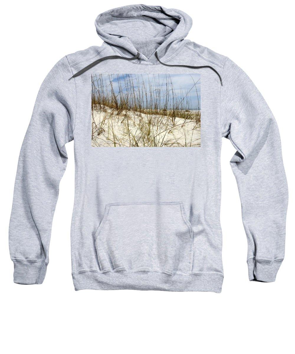 Beach Sweatshirt featuring the photograph Beach Dunes by David Lee Thompson