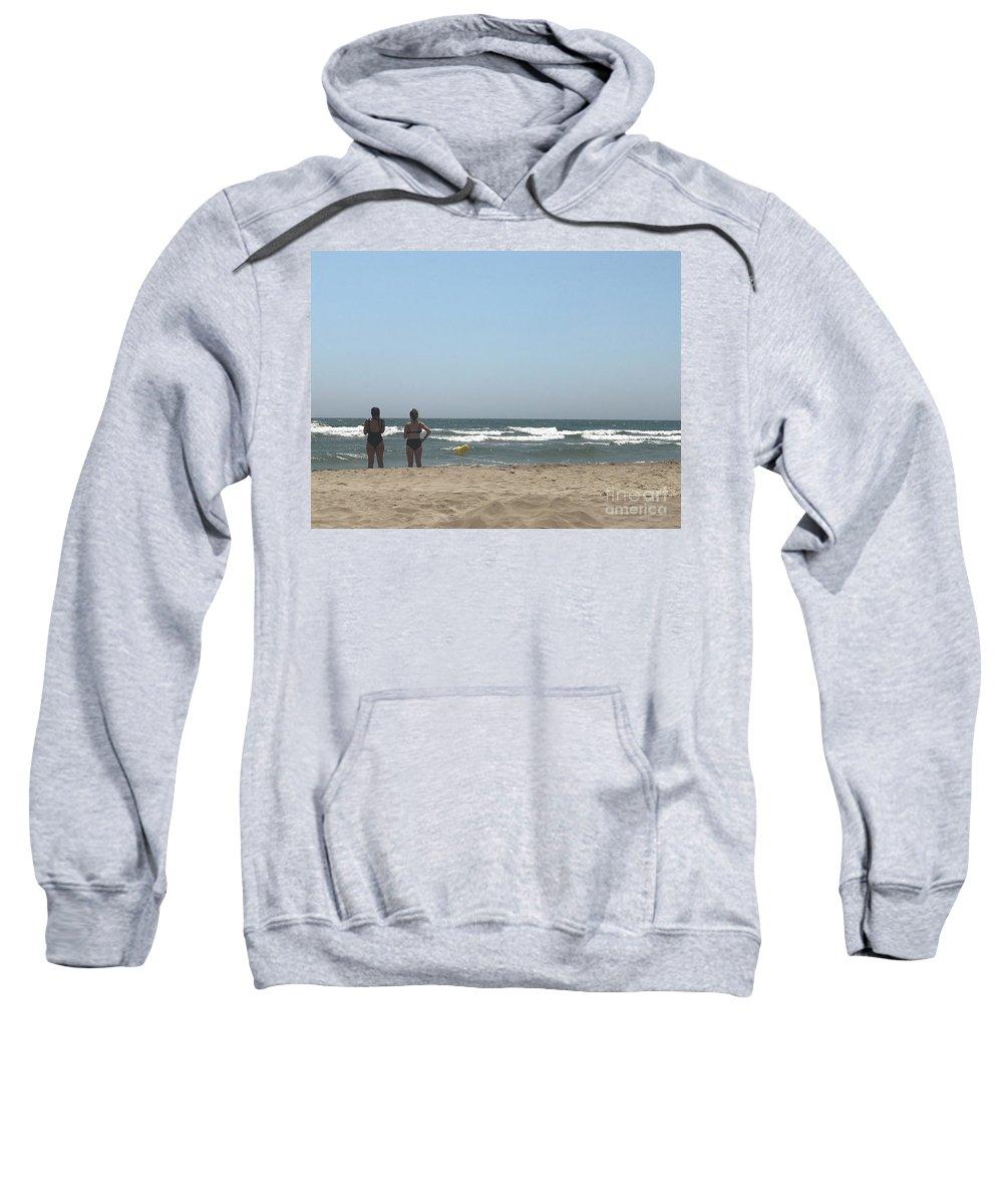 Camargue Sweatshirt featuring the photograph Beach Friends by Nadine Rippelmeyer