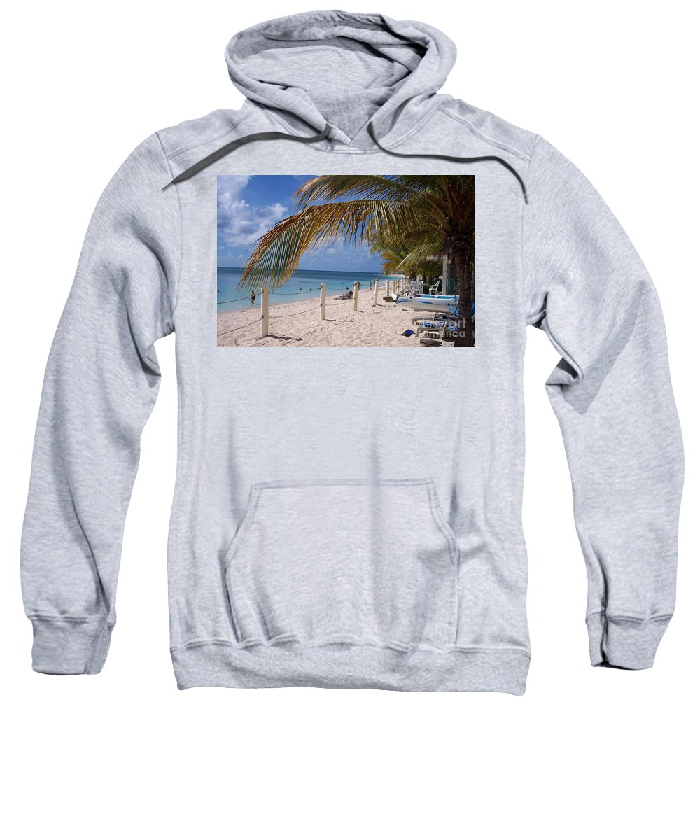 Beach Sweatshirt featuring the photograph Beach Grand Turk by Debbi Granruth