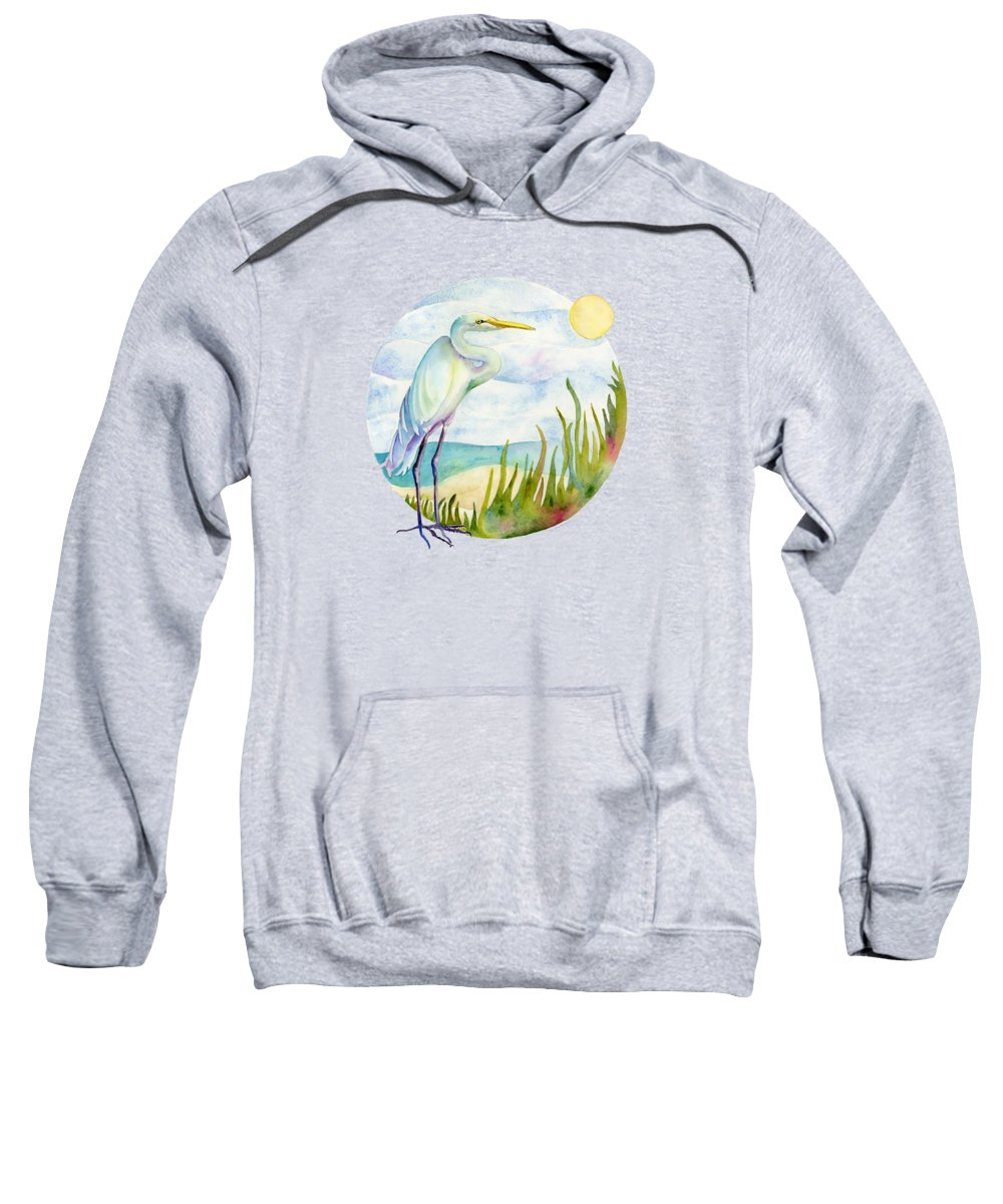 Egret Hooded Sweatshirts T-Shirts