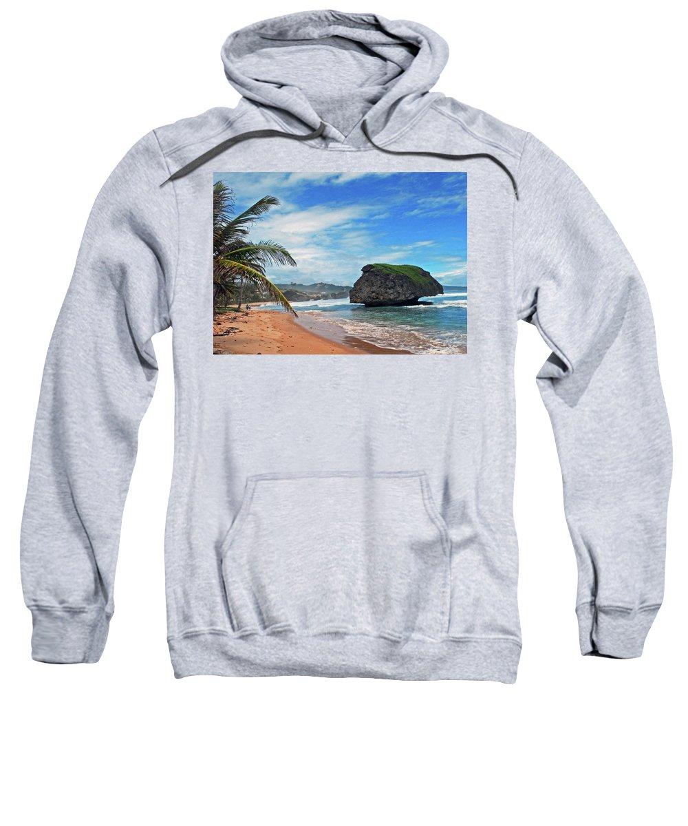 Beach Sweatshirt featuring the photograph Beach Hideaway by Gary Wonning