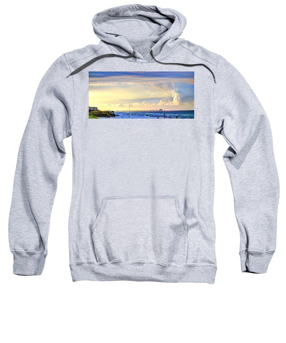 Beach Sweatshirt featuring the photograph Beach House Window by David Morefield