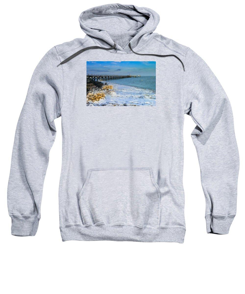 France Sweatshirt featuring the photograph Beach La Tranche Sur Mer by Rene' Keultjes