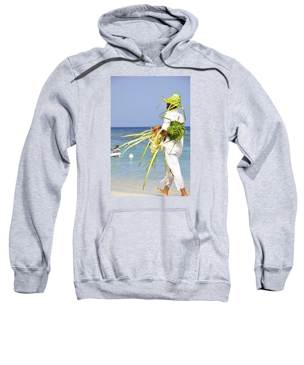 Beach Sweatshirt featuring the photograph Beach Man by Glenn Gordon