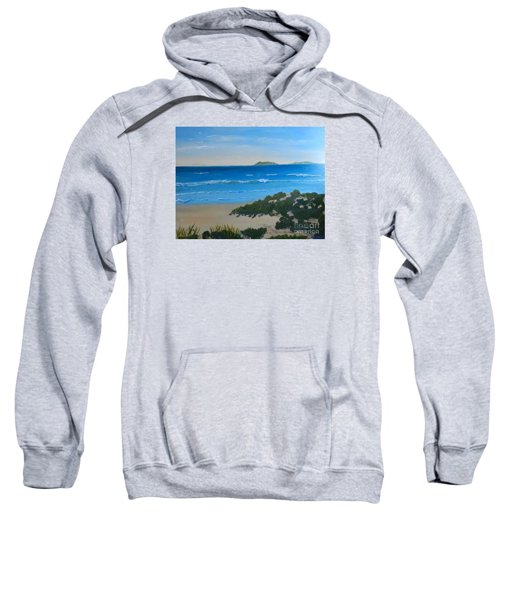 Pamela-meredith Sweatshirt featuring the painting Beach On The North Coast Of Nsw by Pamela Meredith