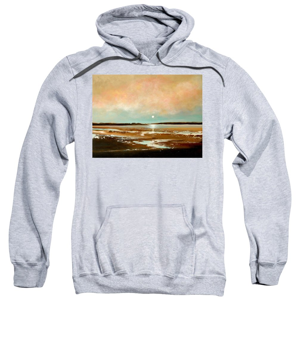 Beach Sweatshirt featuring the painting Beach Reflections by Toni Grote