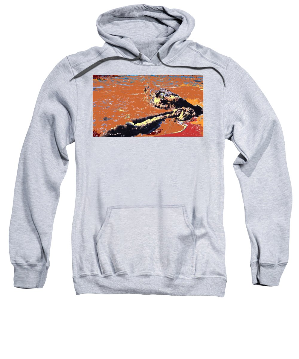 Rope Sweatshirt featuring the photograph Beach Rope by Ian MacDonald