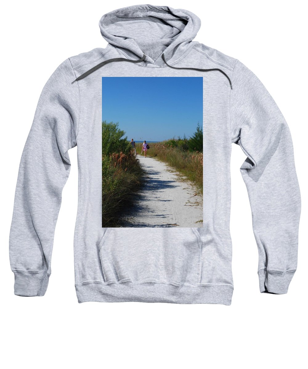Walking Sweatshirt featuring the photograph Beach Stroll by Gary Wonning