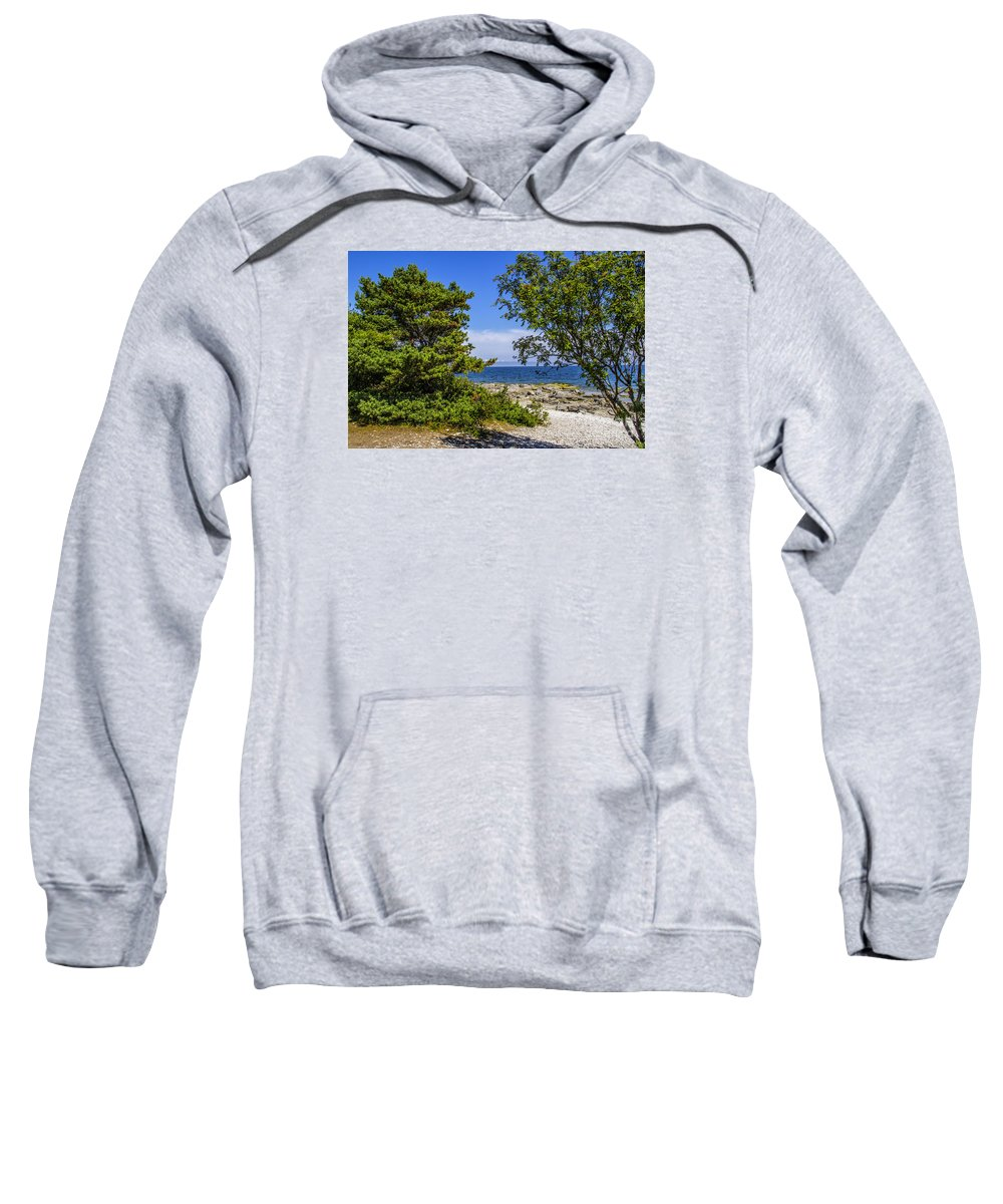 Beach Sweatshirt featuring the photograph Beach Walk by Roberta Bragan
