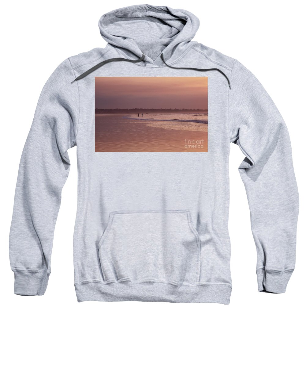 Ecuador Sweatshirt featuring the photograph Beachcombers by Kathy McClure