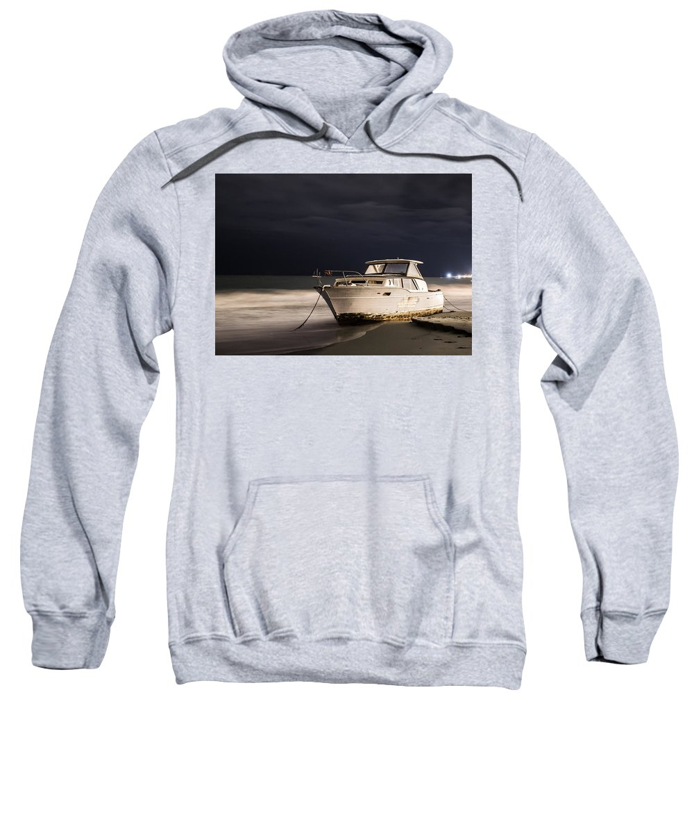 Boat Sweatshirt featuring the photograph Beached by Zach Brown