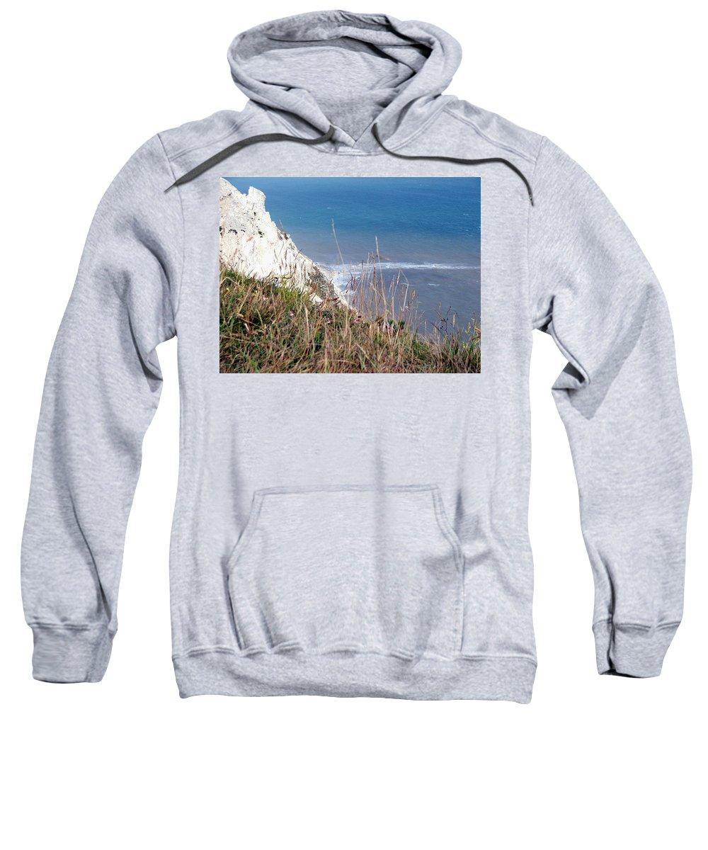 Beachy Head Sweatshirt featuring the photograph Beachy Head Sussex by Heather Lennox