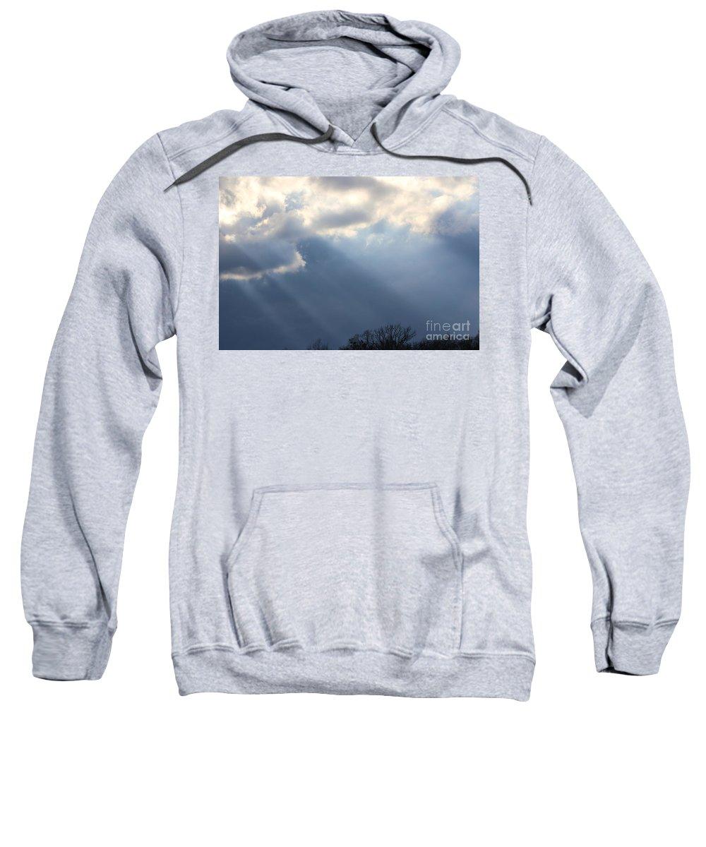 Sky Sweatshirt featuring the photograph Beams by Lara Morrison