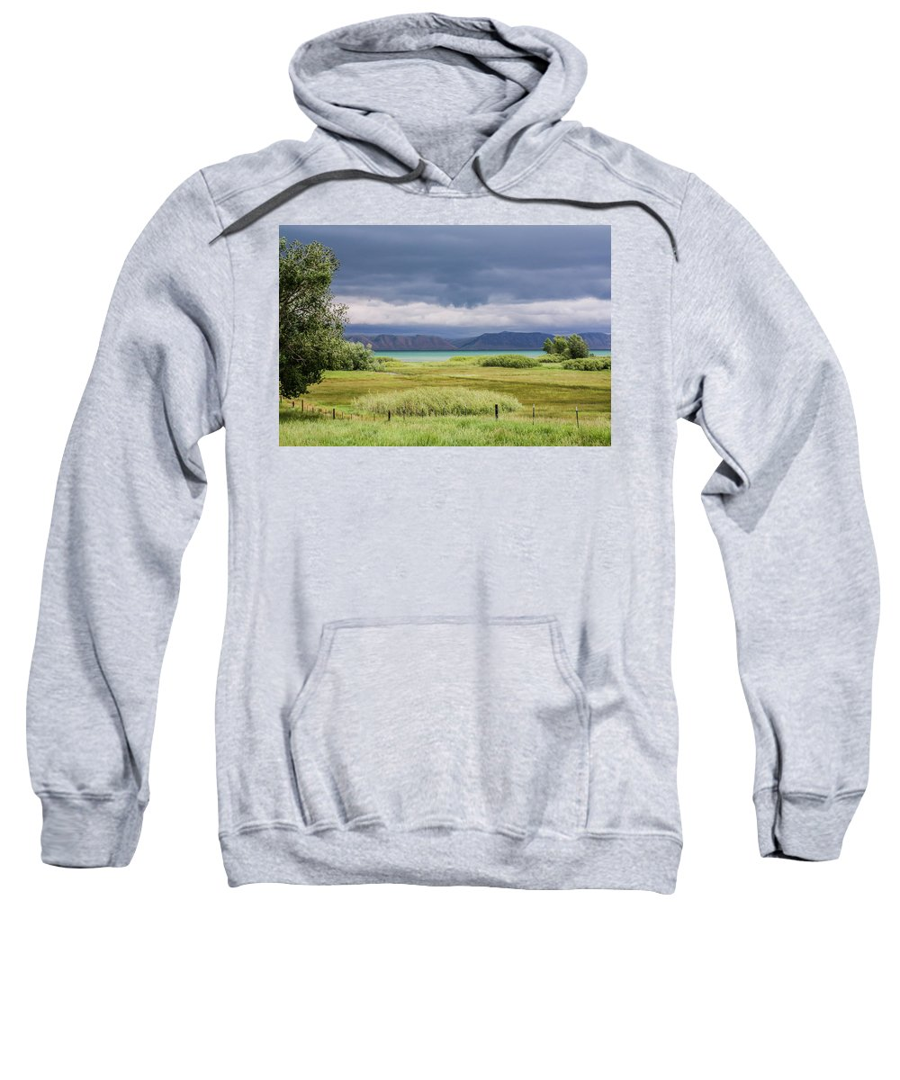 Bear Lake Sweatshirt featuring the photograph Bear Lake From Us 89 by Mary Lou Stone