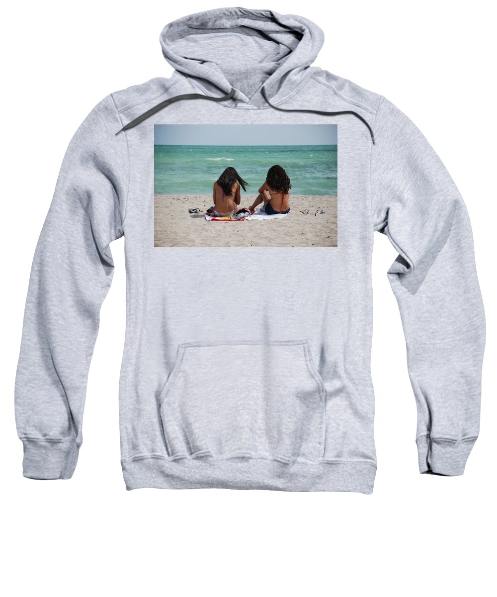 Women Sweatshirt featuring the photograph Beauties On The Beach by Rob Hans