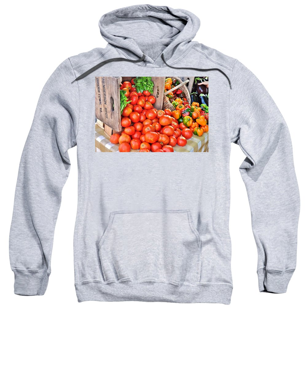 Vegetable Sweatshirt featuring the photograph The Bountiful Harvest At The Farmer's Market by Kim Bemis
